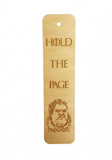 "Game of Thrones Inspired Hodor ""Hold the Page"" Wooden Book Mark"